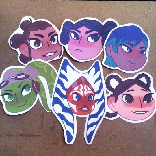 'Star Wars Girls Stickers' by Elijah Volf