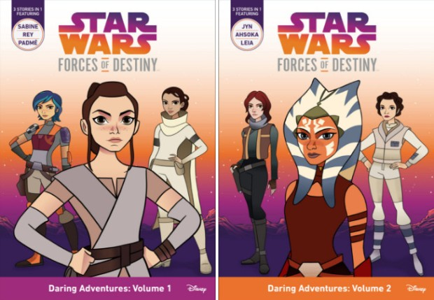 Star Wars: Forces of Destiny: Daring Adventures volumes 1 and 2. Image credit: StarWars.Com