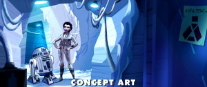 Concept art of Princess Leia in 'Star Wars: Forces of Destiny'
