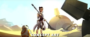 Concept art of Rey in 'Star Wars: Forces of Destiny'