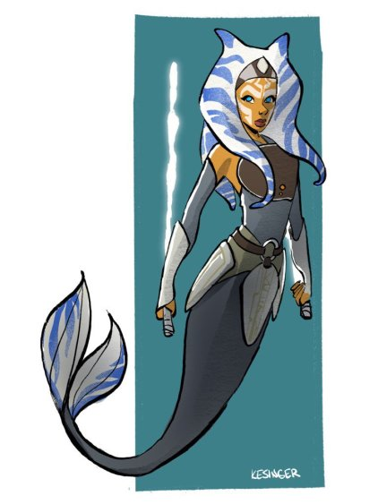 Ahsoka Tano as a mermaid (Image credit: Brian Kesinger)