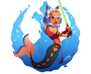 Clone Wars Ahsoka Tano as a mermaid (Image credit: Jeff Carillo)
