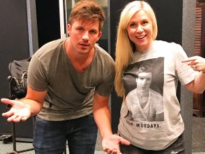Ashley Eckstein and Matt Lanter back in the recording studio together (Image credit: Ashley Eckstein/Her Universe)