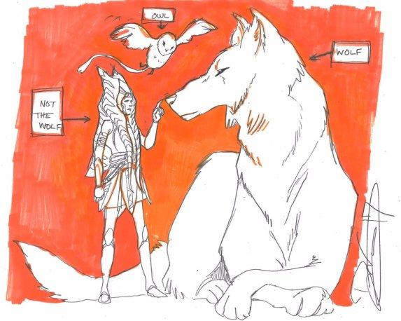 Ahsoka (Not the Wolf) Tano hangs out with her animal buddies (Image credit: Dave Filoni)