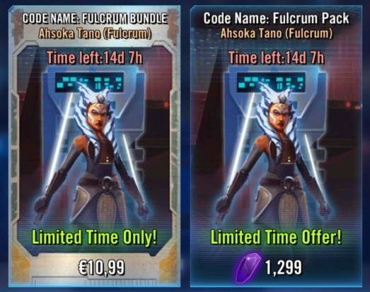 Ahsoka Tano (Fulcrum) bundle and pack
