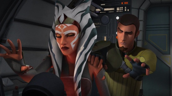 Ahsoka and Kanan work together to learn more about the mysterious Sith Lord attacking their fleet (Image credit: Cap-That)