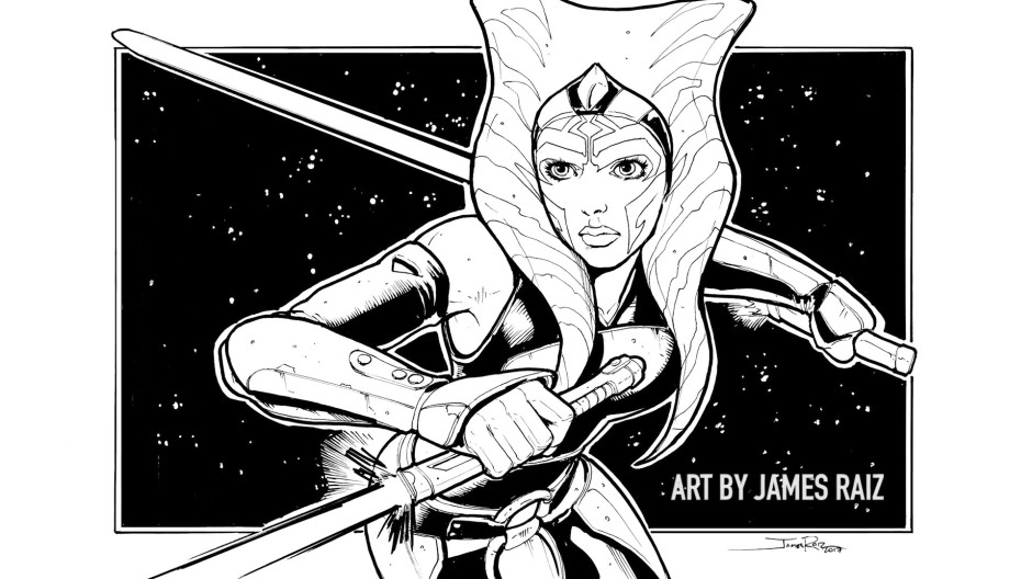 Ahsoka Tano sketch by James Raiz (aka TheBoxOfficeArtist)