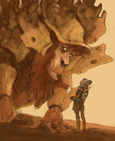 Ahsoka Tano and Bendu (Image credit: Dave Filoni)