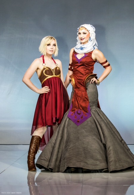 Designer Rachel Roth and model EmmaSkies (Photo credit: Mark Edwards)