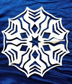 Ahsoka Tano-themed paper snowflake by GingerNifty