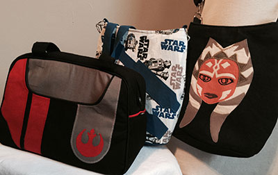 Holly Frey's custom-made Star Wars handbags