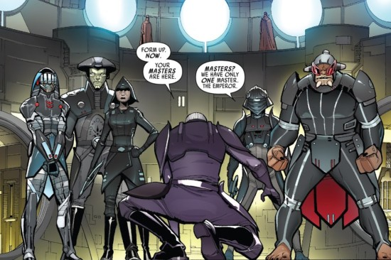 Sixth Brother (far left) makes his comic debut in issue 6 of 'Darth Vader: Dark Lord of the Sith'. (Image credit: Marvel Comics)
