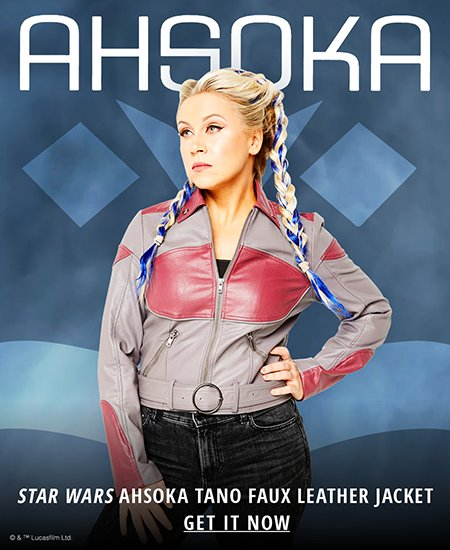Her Universe's Ahsoka Tano faux leather jacket