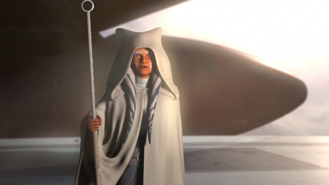 Ahsoka Tano, as seen in the epilogue of the 'Star Wars Rebels' finale.