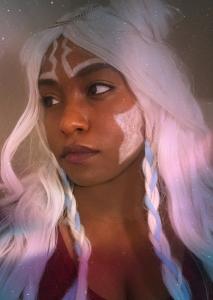 Kendra Davis (Princess Mahogany Cosplay) cosplaying as a human Ahsoka Tano