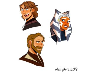 The Clone Wars fan art by Meltyartz