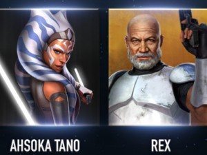 Ahsoka Tano (Fulcrum) and Rex join Star Wars: Force Arena