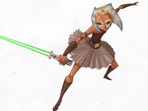 "An early design for ""Ashla"", who later became Ahsoka Tano. (Image credit: Dave Filoni/StarWars.com)"