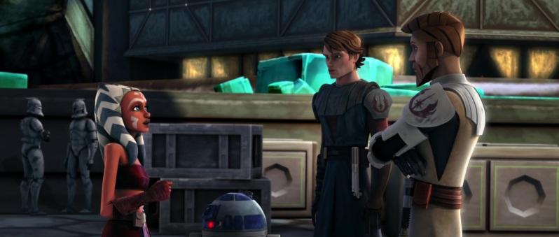 Ahsoka, Anakin, and Obi-Wan in the Clone Wars film