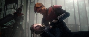 Satine Kryze dies in the arms of Obi-Wan Kenobi in 'The Lawless' (Image credit: Cap-That)