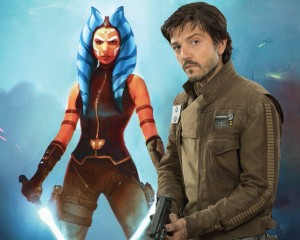 Cassian Andor and Ahsoka Tano