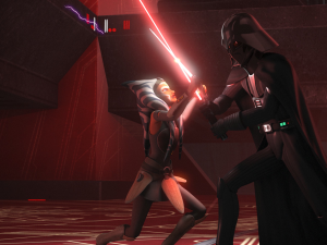 Ahsoka Tano and Darth Vader face off against each other on 'Star Wars Rebels'