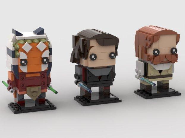 ScoutTheTrooper's Ahsoka, Anakin, and Kenobi BrickHeadz figures