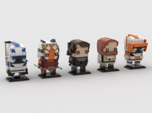 ScoutTheTrooper's Clone Wars BrickHeadz figures
