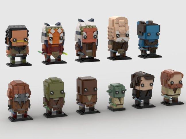 ScoutTheTrooper's Jedi character BrickHeadz designs
