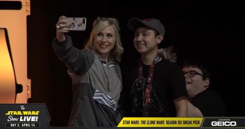 Ashley Eckstein with fan at Celebration Chicago