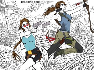 The official Tomb Raider colouring book