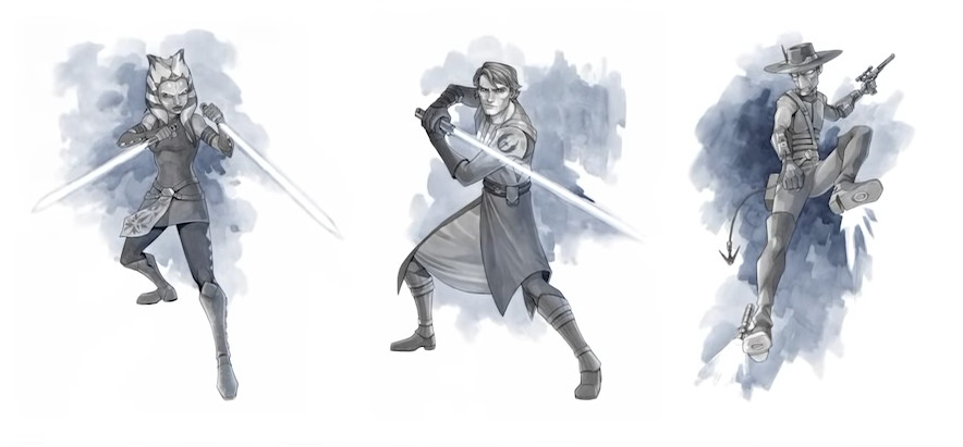 Art from The Clone Wars: Stories of Light and Dark