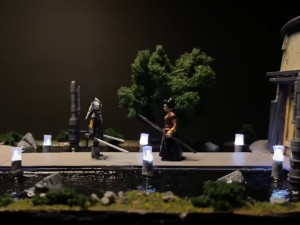 Ahsoka Tano vs the Magistrate diorama by Boylei Hobby Time
