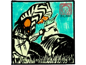 Dave Filoni's sketch of Ahsoka and Grogu