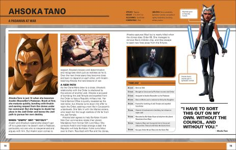 Star Wars: The Clones Wars: Character Encyclopedia - Join the Battle sample page