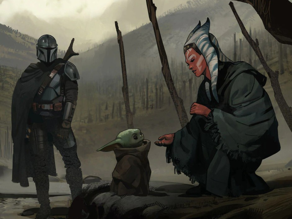 "Concept art from The Mandalorian ""The Jedi"""