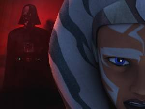 Ahsoka's vision of Darth Vader in the episode 'Shroud of Darkness'