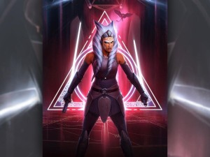 "Darren Tan's latest Star Wars fine art print, ""Ahsoka Tano: Between Worlds"""