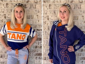Ashley Eckstein models some of the new items from Her Universe's Ahsoka Tano collection