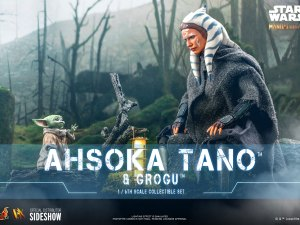 The Mandalorian Ahsoka Tano and Grogu sixth scale collectible figure set