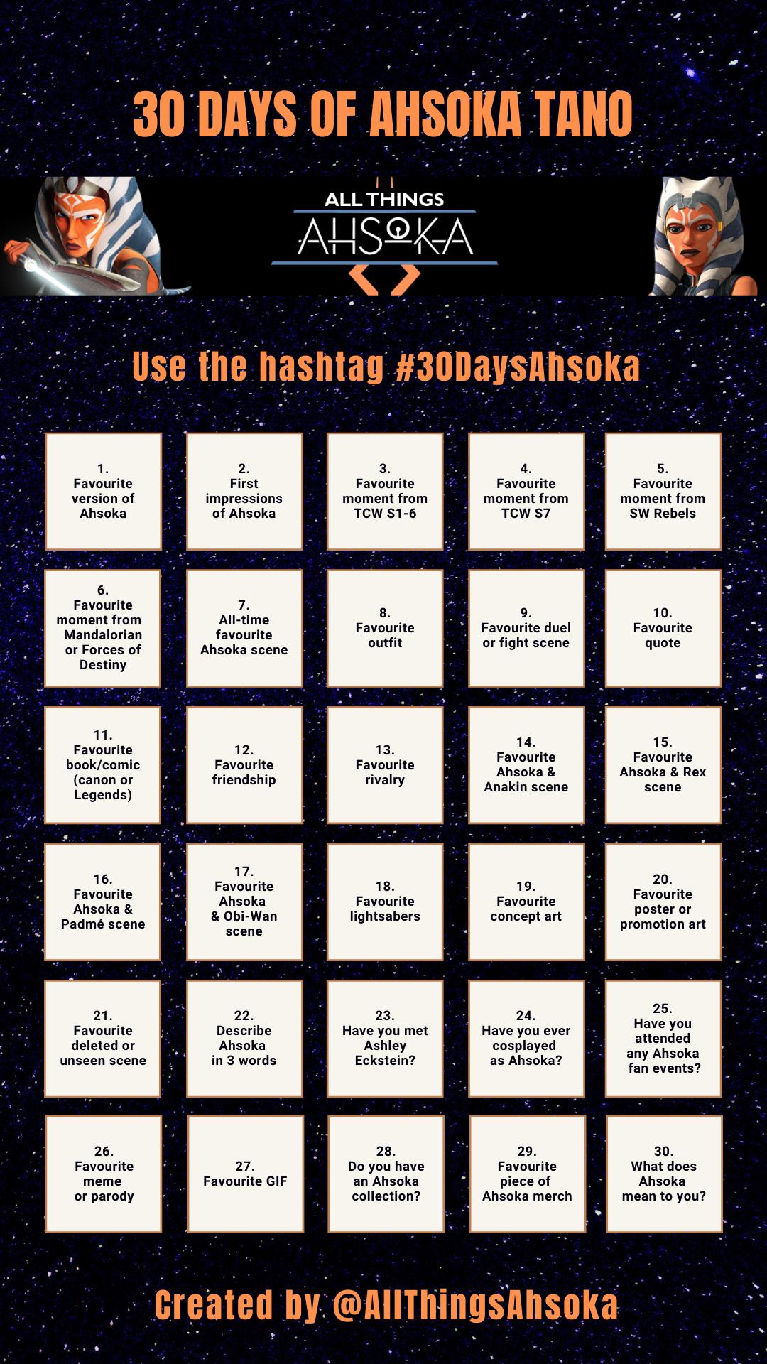30 Days of AhsokaChallenge
