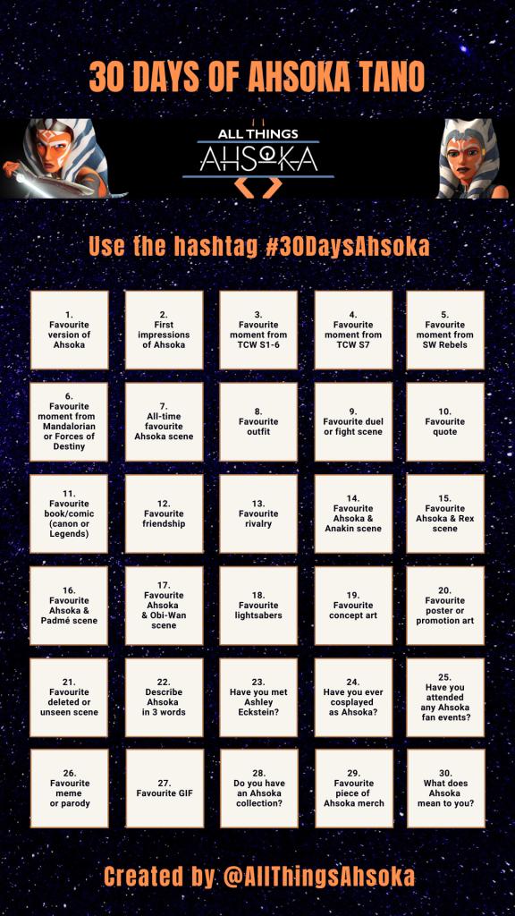 30-Day Ahsoka Tano challenge
