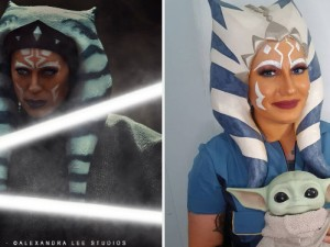 Ahsoka Tano cosplayers celebrating Star Wars Day 2021