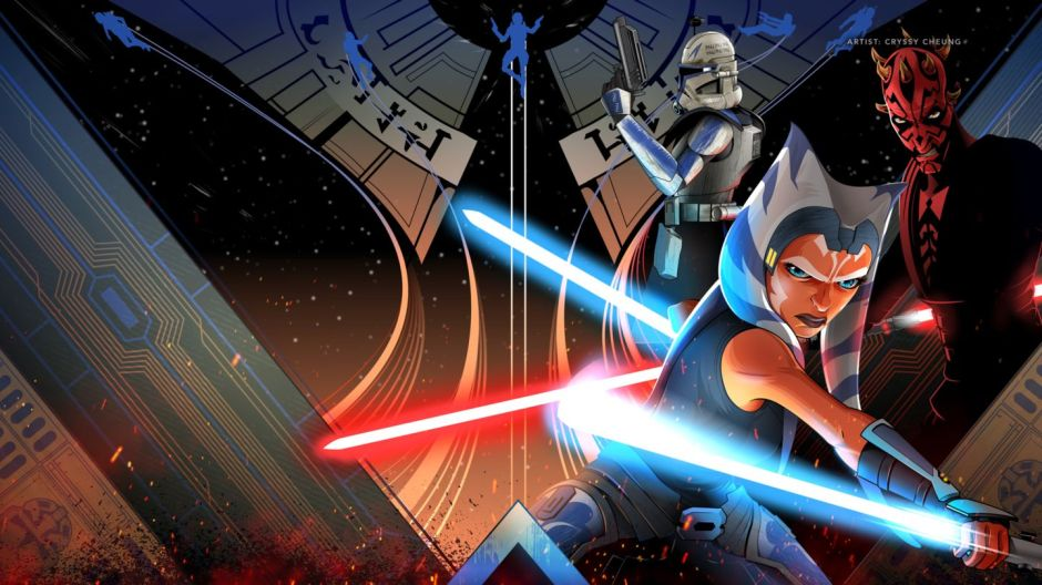 """Disney Plus """"May the 4th"""" The Clone Wars landing page by Chryssy Cheung"""