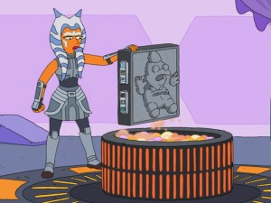 "Ahsoka Tano in ""Maggie Simpson in 'The Force Awakens From Its Nap'"""